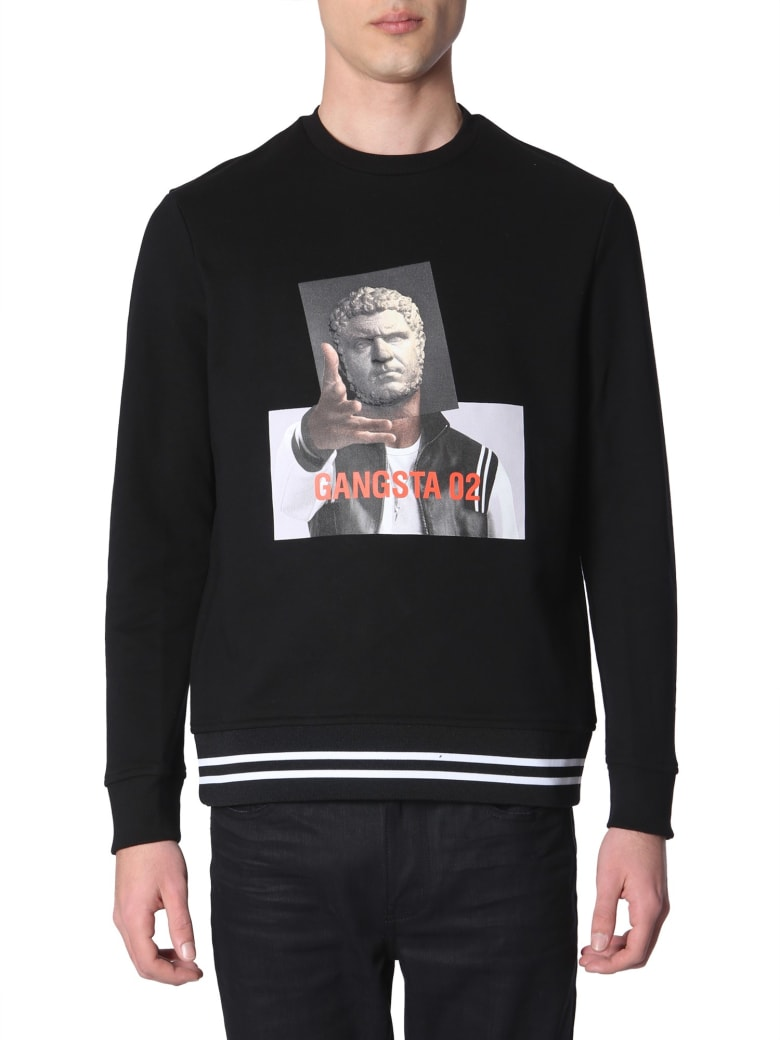 Neil Barrett Gangsta 02 Printed Sweatshirt - NERO