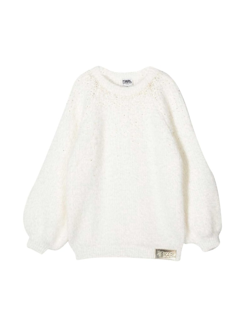 Karl Lagerfeld Kids White Sweater - Bianco