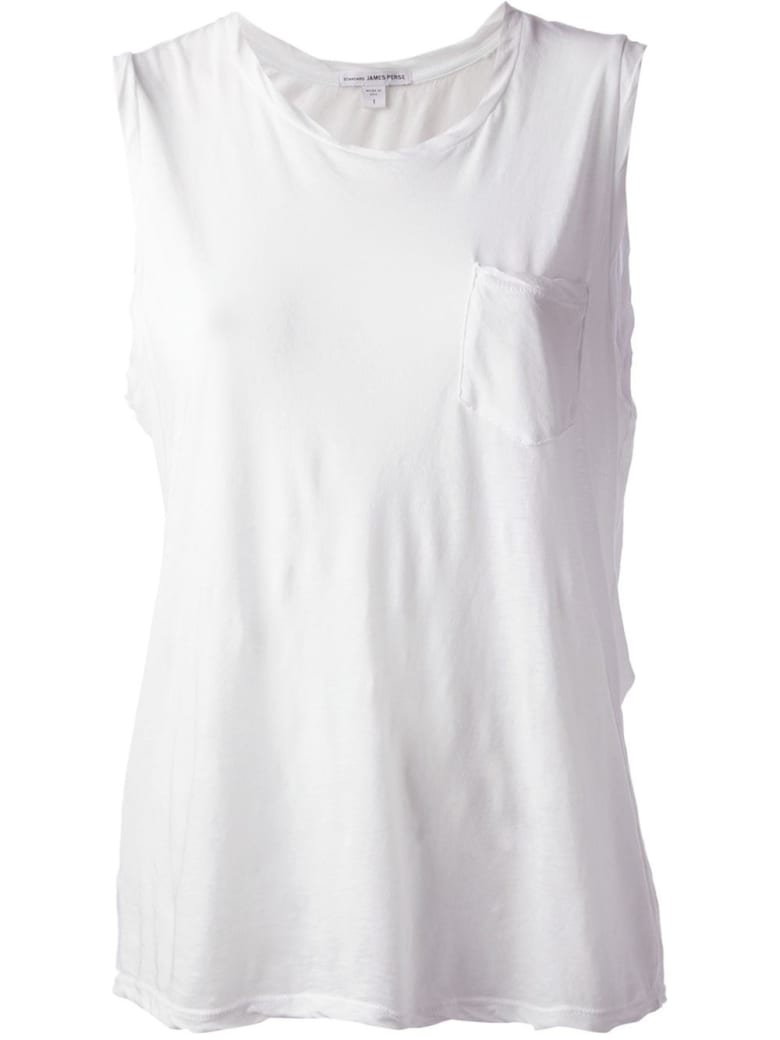 James Perse Muscle Tank - White