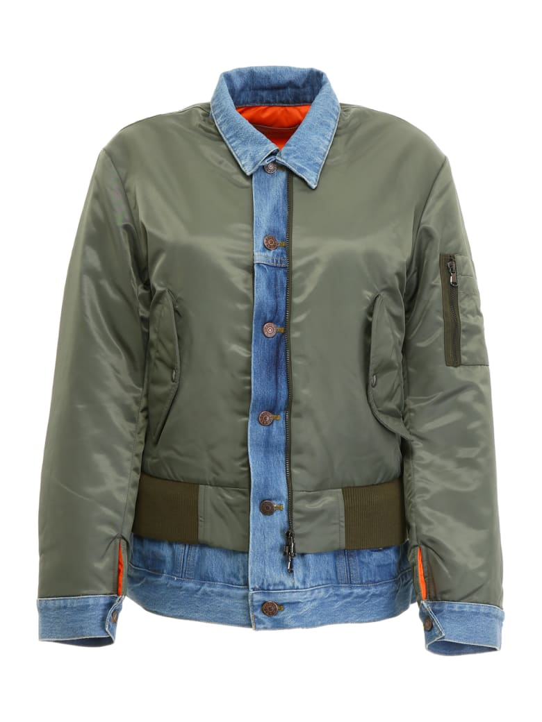 Forte Couture Bomber Jacket - GREEN DENIM (Khaki)