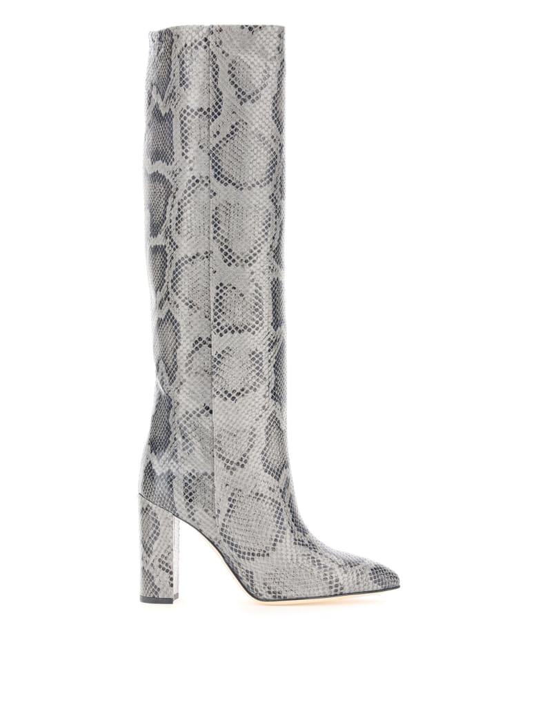 Paris Texas Python-print Boots - GRIGIO (Grey)