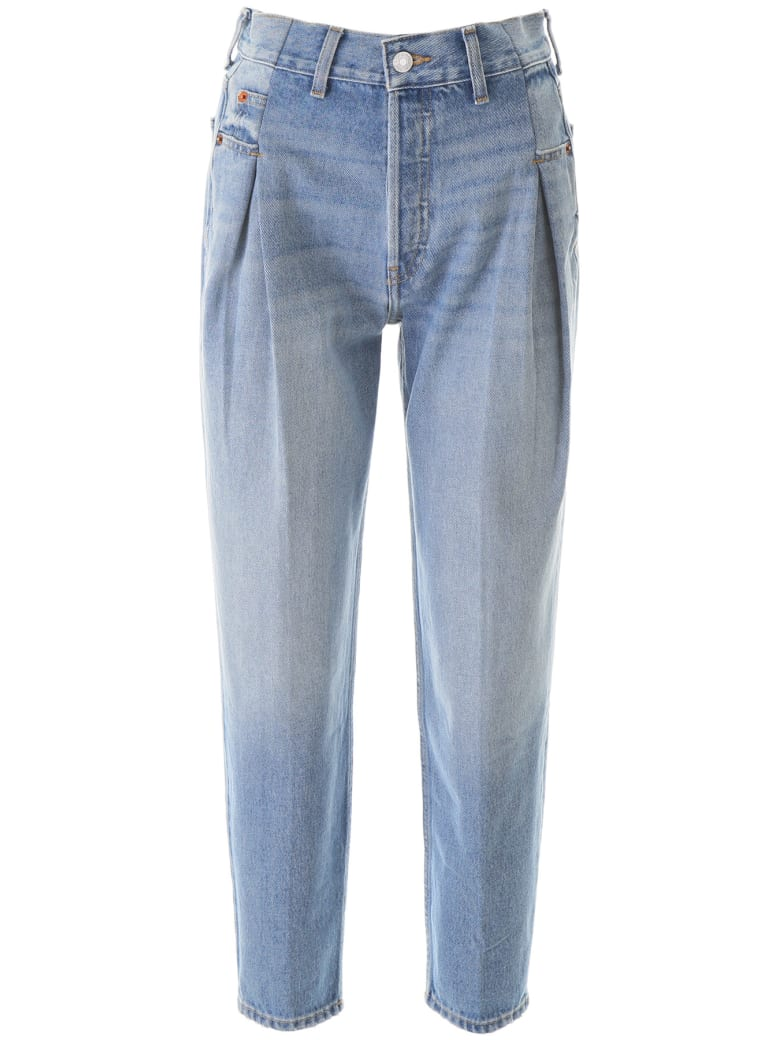 RE/DONE Pleated Baggy Jeans - MEDIUM 7 (Light blue)