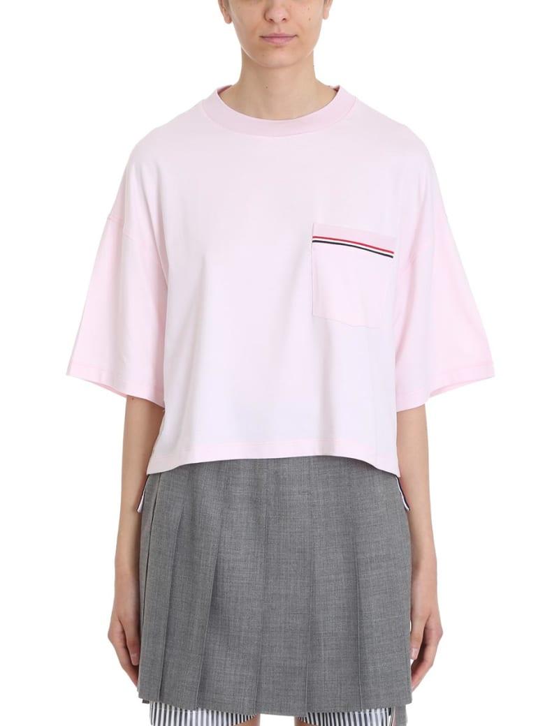 Thom Browne Oversized T-shirt In Pink Piqu? Cotton - rose-pink
