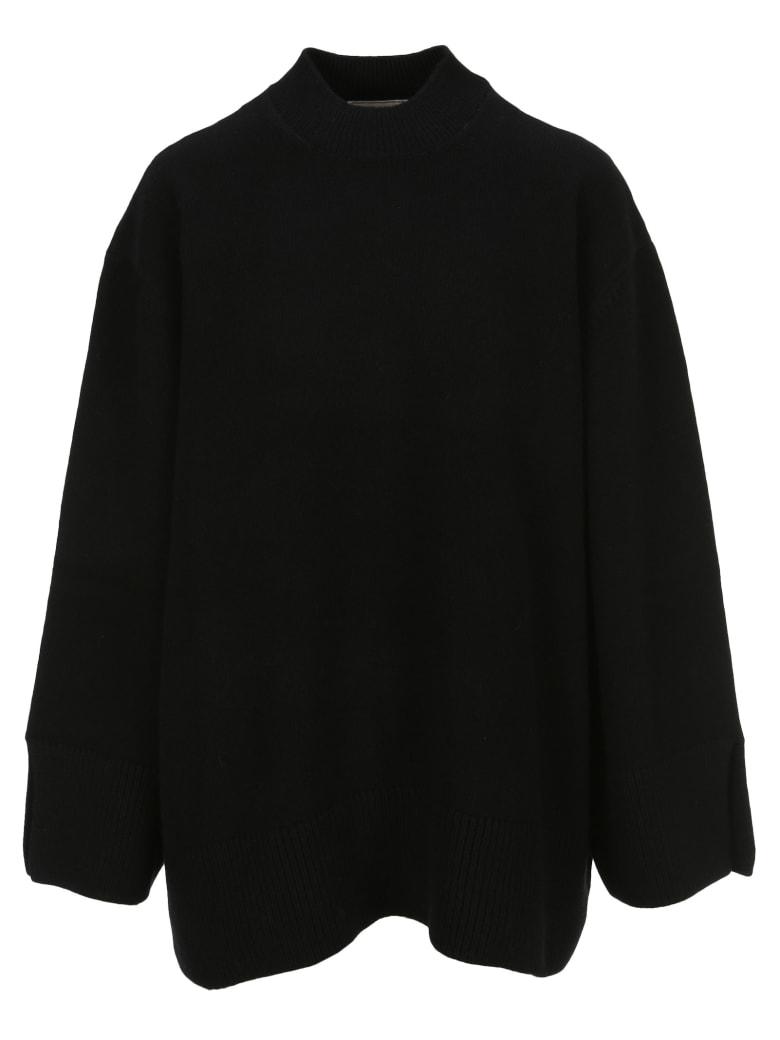 Maison Kitsuné Maison Kitsune Oversized Zipped-sides Jumper - black