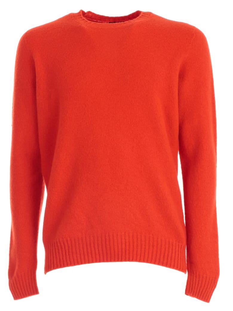 Drumohr Sweater Crew Neck Wool - Corallo