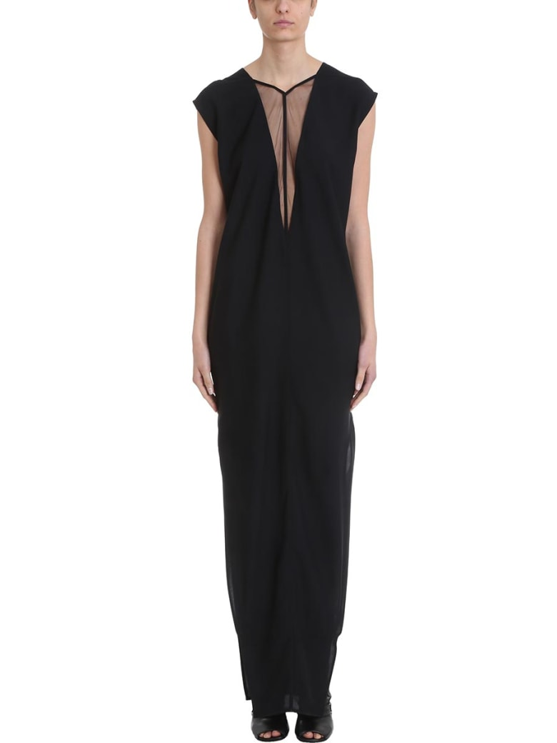 Rick Owens Double V Dagger Dress - black