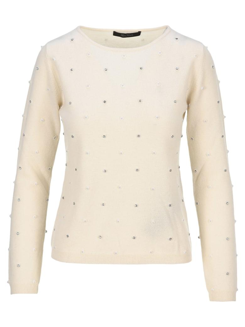 Max Mara Embellished Sweater - WHITE