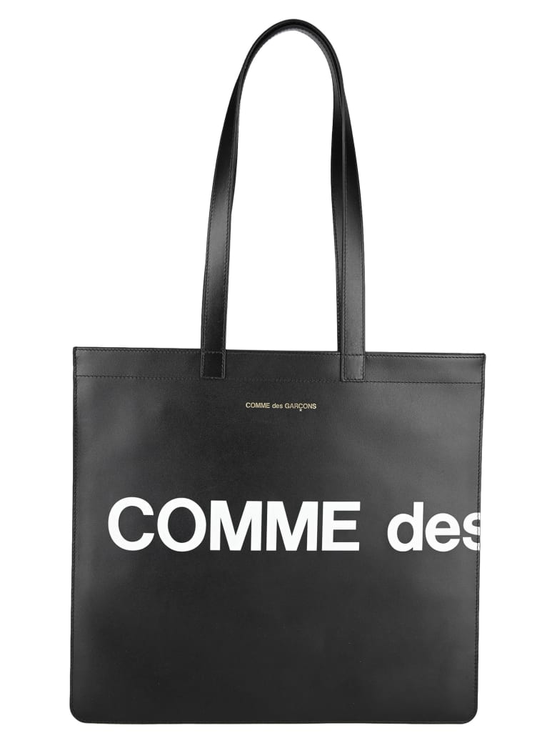 Comme des Garçons Wallet Comme Des Garcons Wallet Logo Tote Bag - BLACK