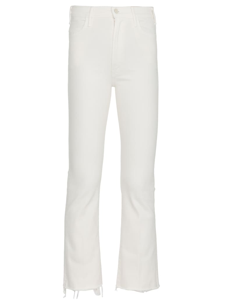 Mother Cotton Jeans - Cream Puff