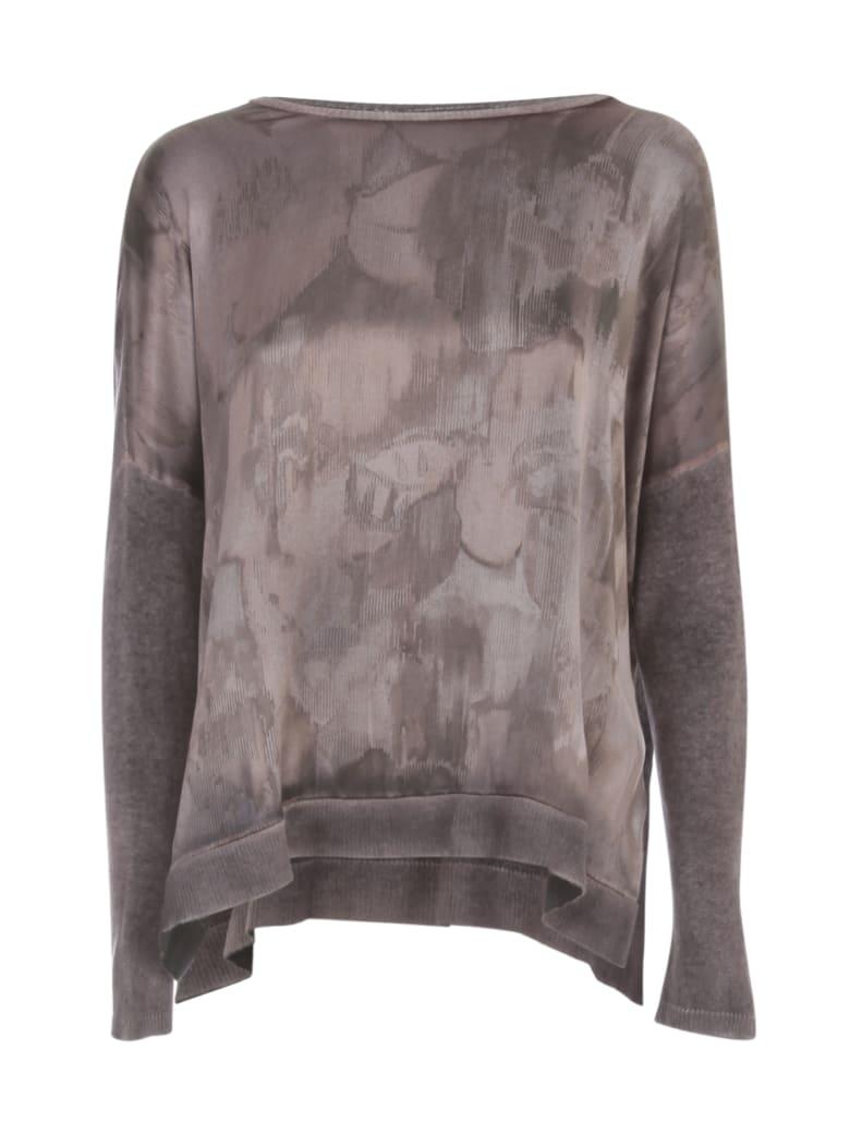 Avant Toi Oversized Boat Neck Sweater W/ Silk Slits - N Satin