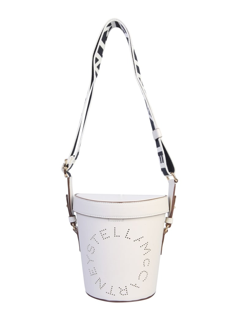 Stella McCartney Bucket Bag With Logo - Purewhite