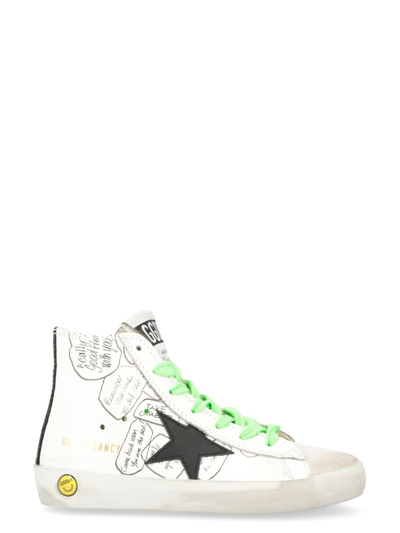 Golden Goose Francy Classic Leather High-top Sneakers - White