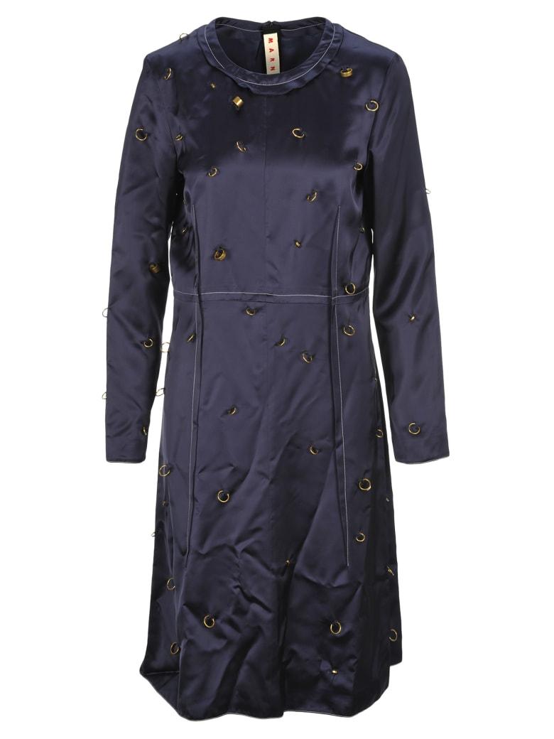 Marni Rings Detail Dress - LIGHT NAVY BLUE
