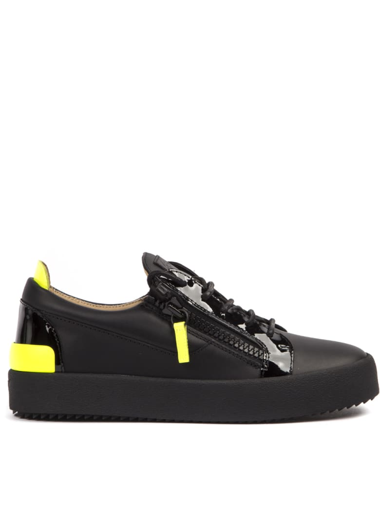 usa cheap sale buy popular get new Best price on the market at italist | Giuseppe Zanotti Giuseppe Zanotti  Black And Fluo Leather G-flash Sneakers