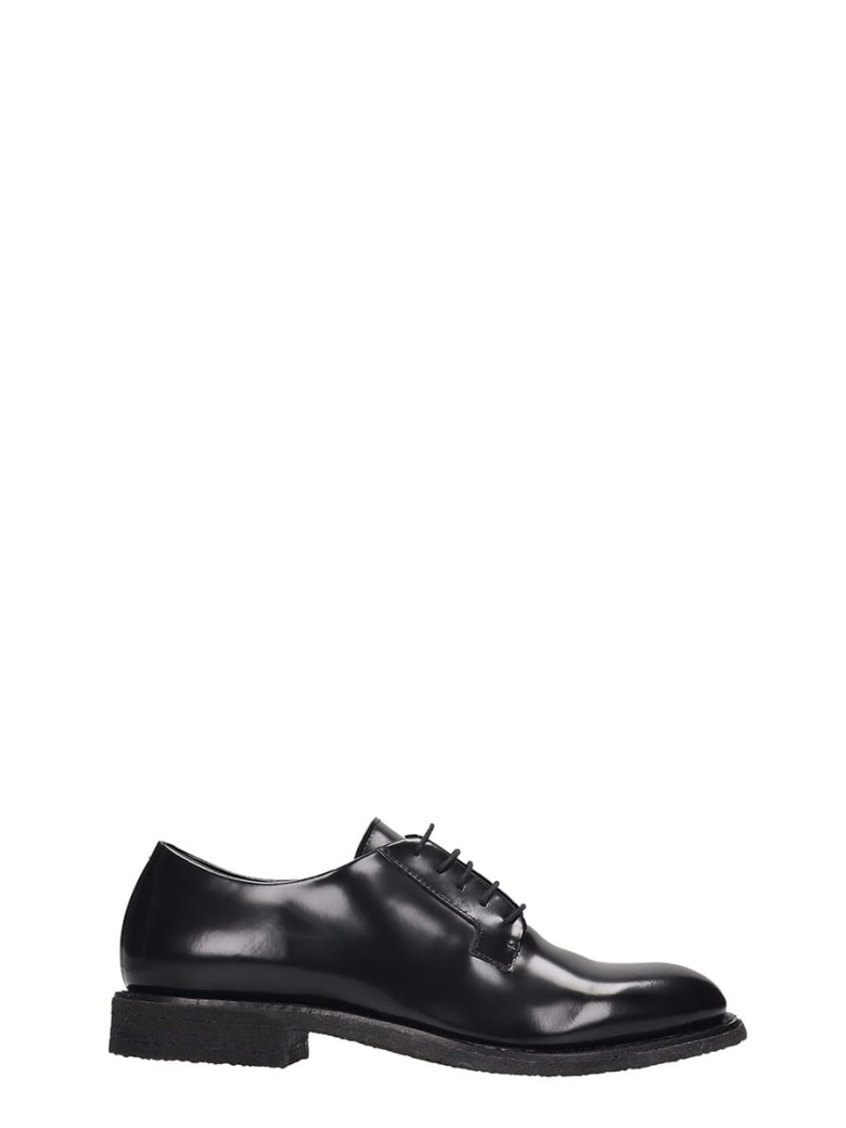 Roberto del Carlo Lace Up Shoes In Black Patent Leather - black