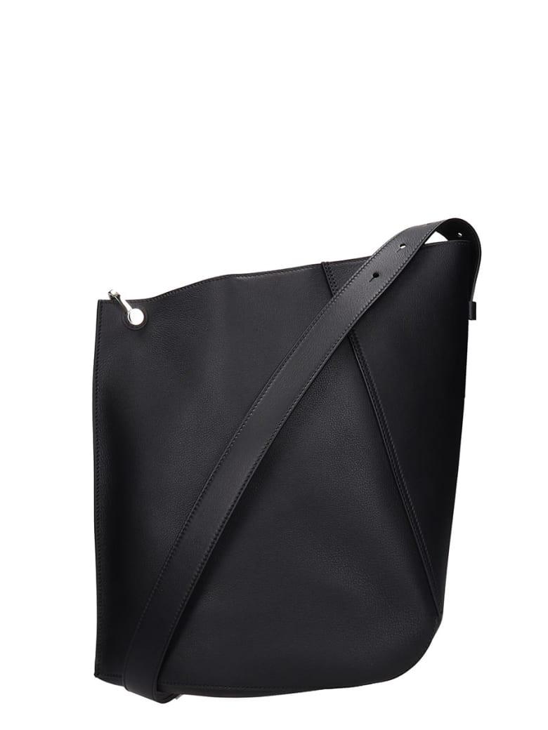 Lanvin Shoulder Bag In Black Leather - black