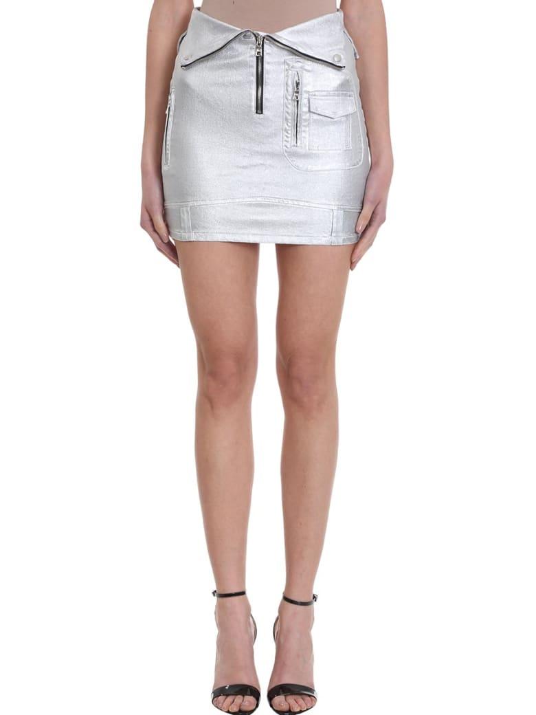 RTA Biker Skirt - silver