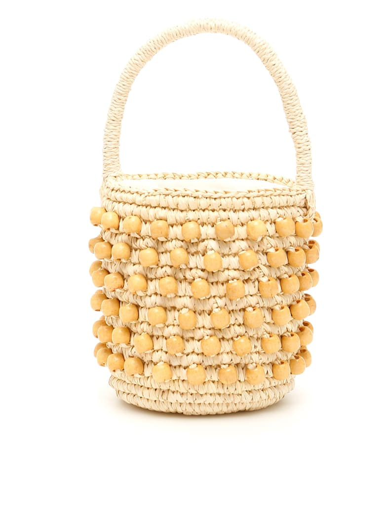 Sensi Studio Mini Wicker Bucket Bag - NATURAL (Beige)