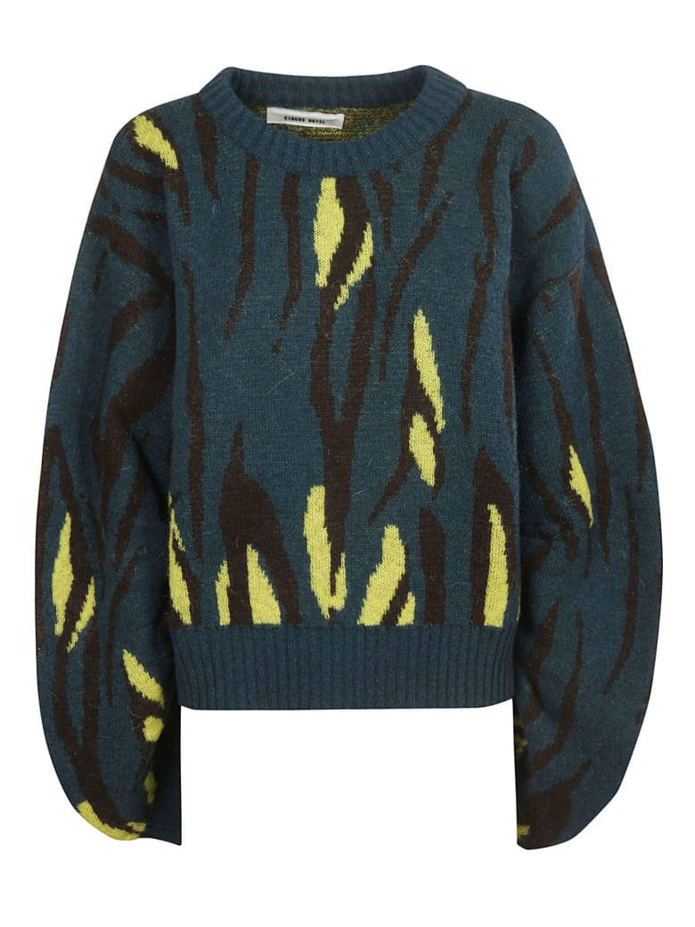 Circus Hotel Oversized Sweater - Green