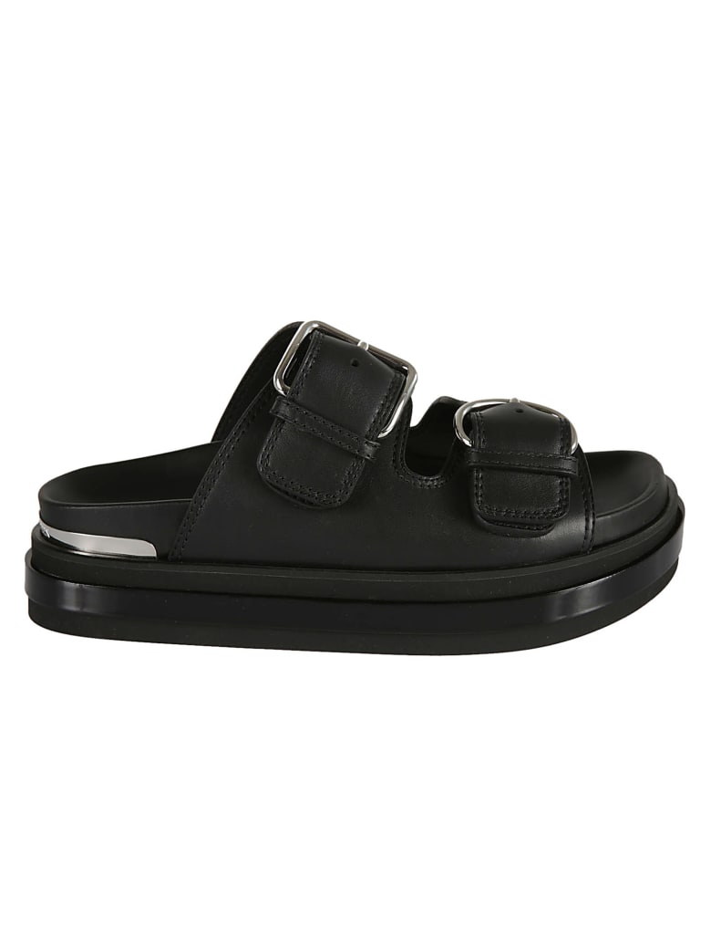 Alexander McQueen Double-strap Sandals - Black/Silver