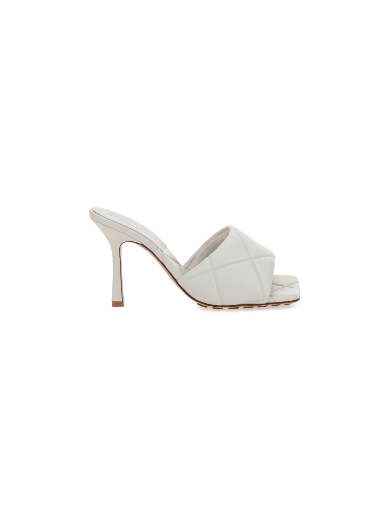 Bottega Veneta 90mm Lido Sandals - Bianco