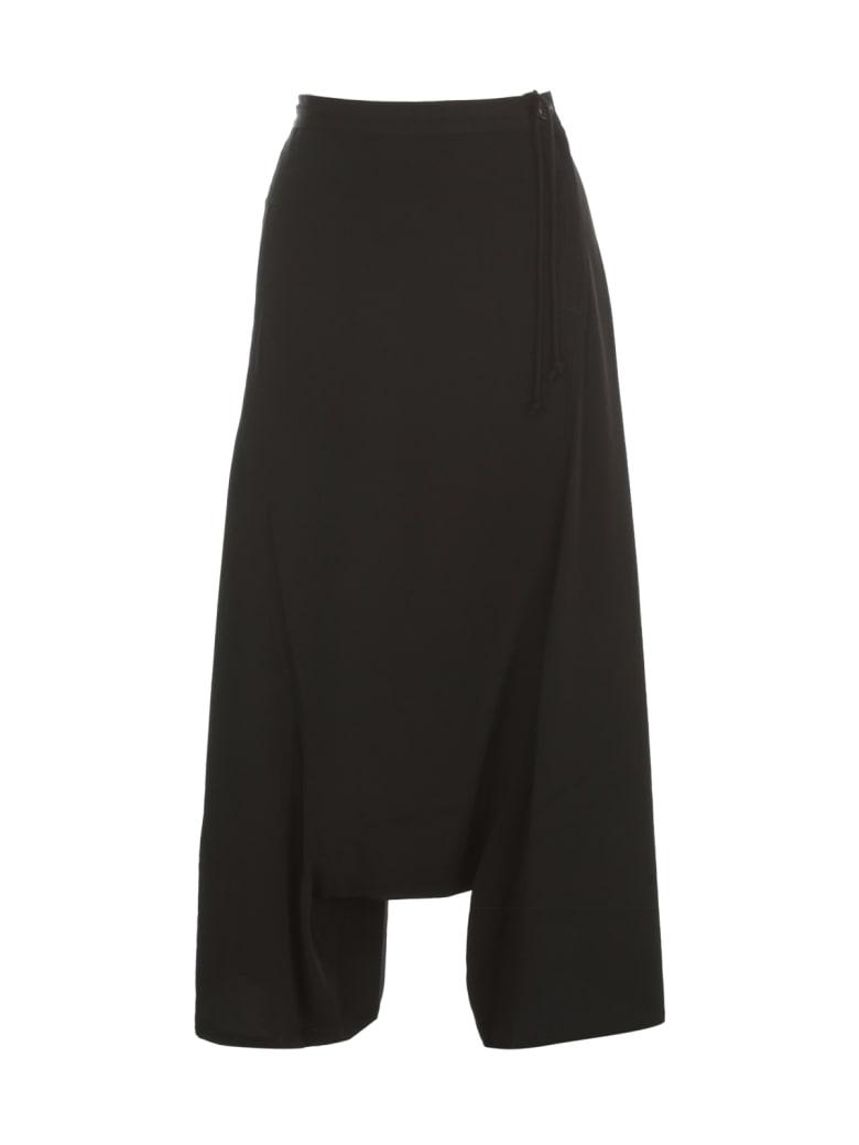 Y's O Waist String Sarouel Pants - Black