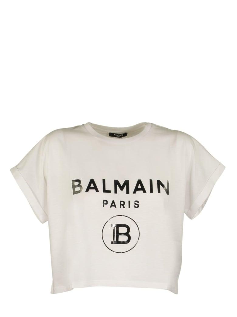 Balmain T-shirt White/black - Black/white