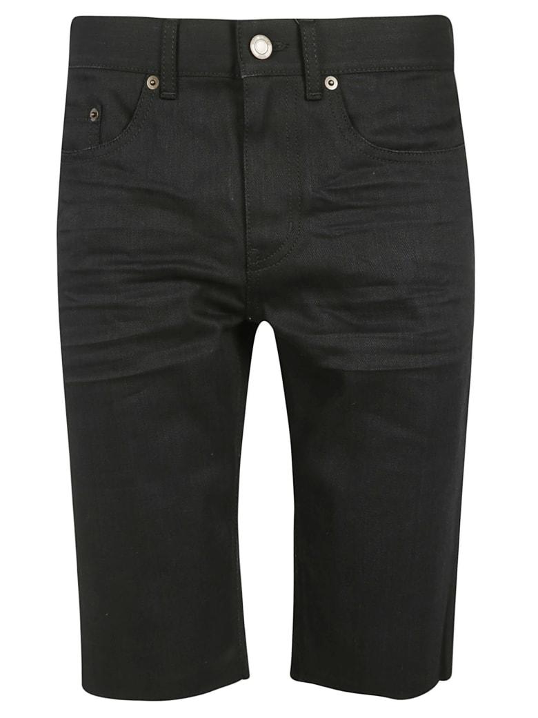 Saint Laurent Frayed Denim Shorts - Used Black