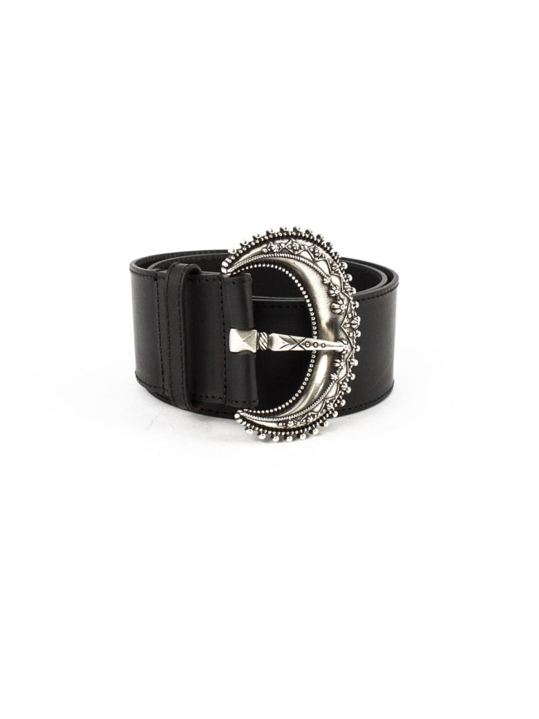 Etro Black Leather Belt - Nero