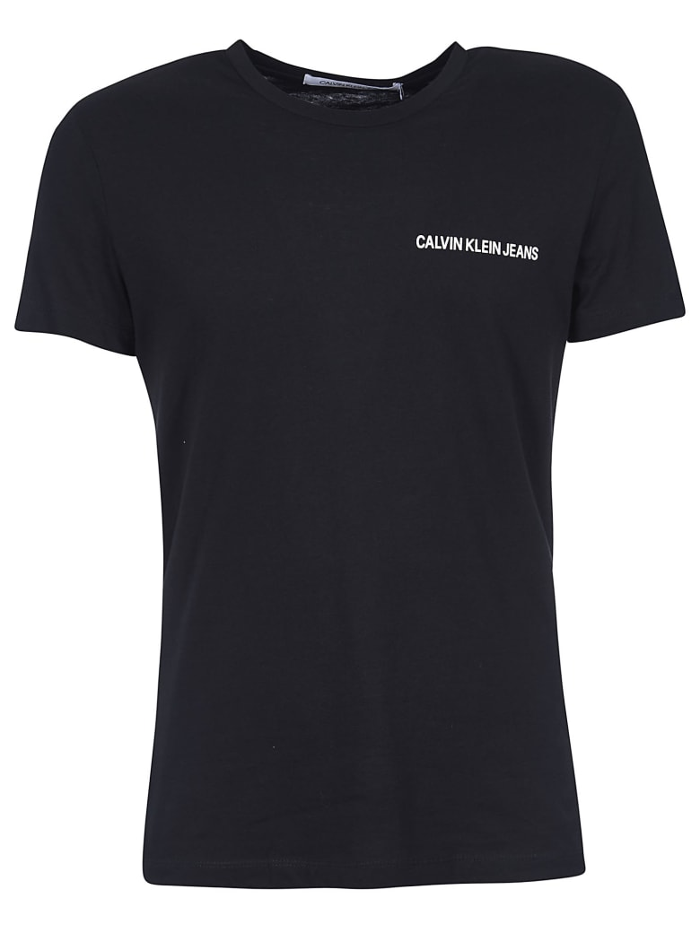 Calvin Klein Logo Chest T-shirt - Nero