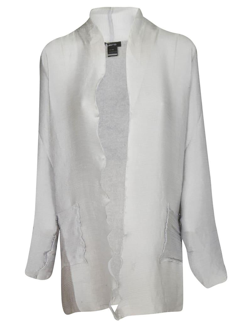 Avant Toi Button-less Cardigan - Grey