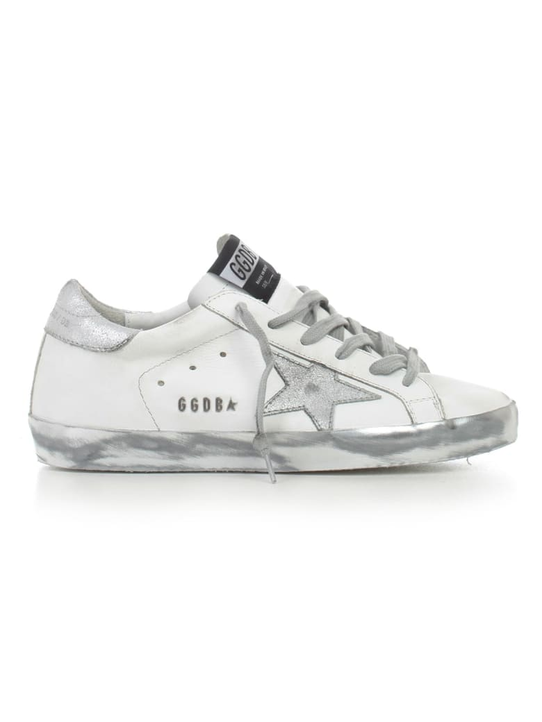 Golden Goose Sneakers - White Silver Star Sparkle