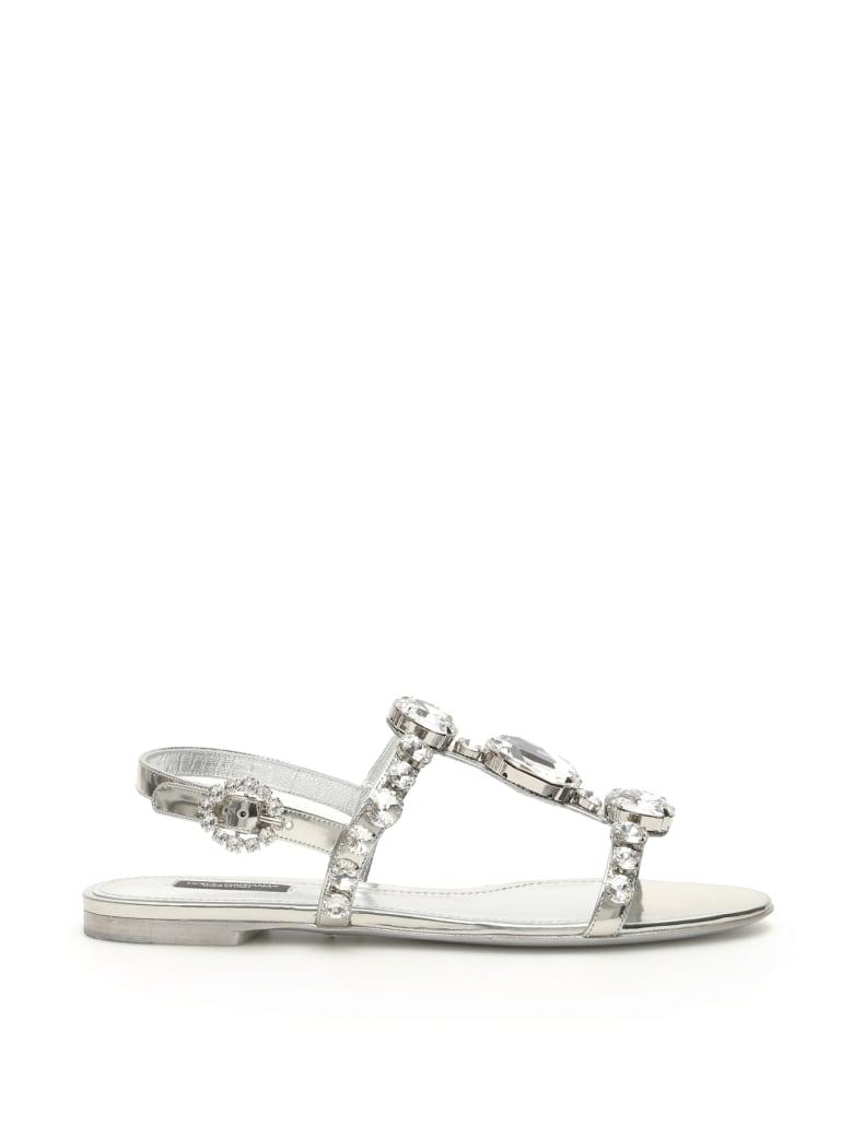 Dolce & Gabbana Crystal Sandals - ARGENTO (Silver)