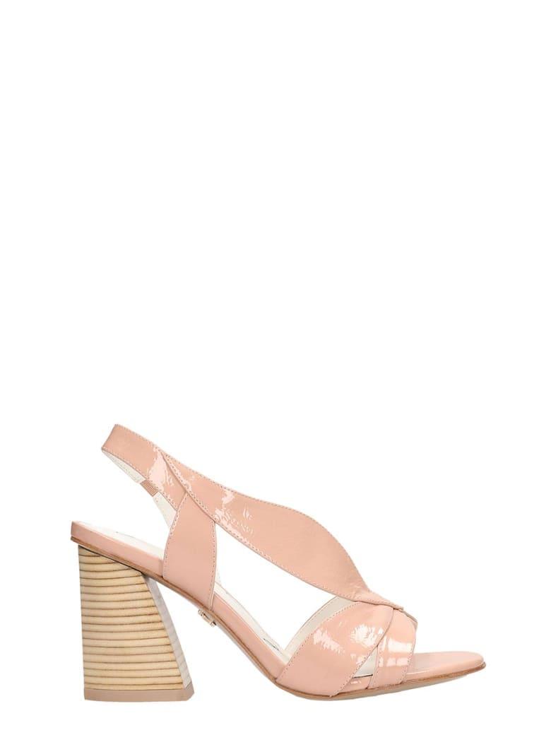 Lola Cruz Pink Patent Leather Sandals - powder