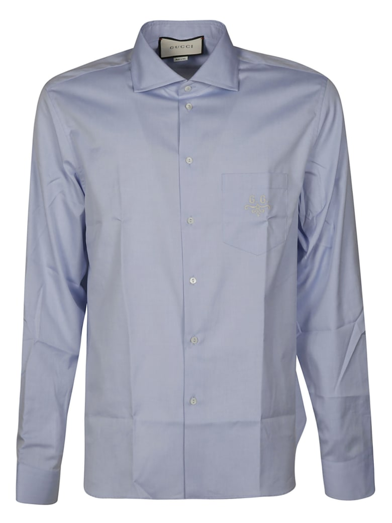 Gucci Long-sleeved Shirt - Sky Blue