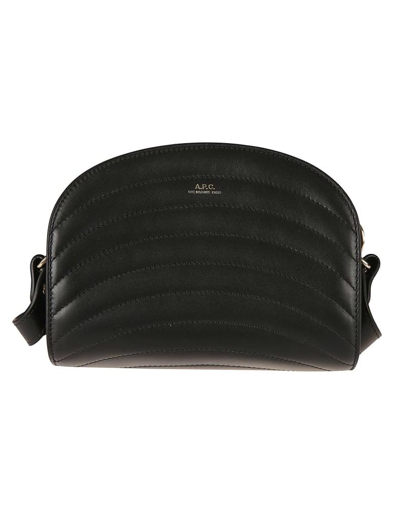 A.P.C. Sac Demi Quilted Mini Shoulder Bag - Black