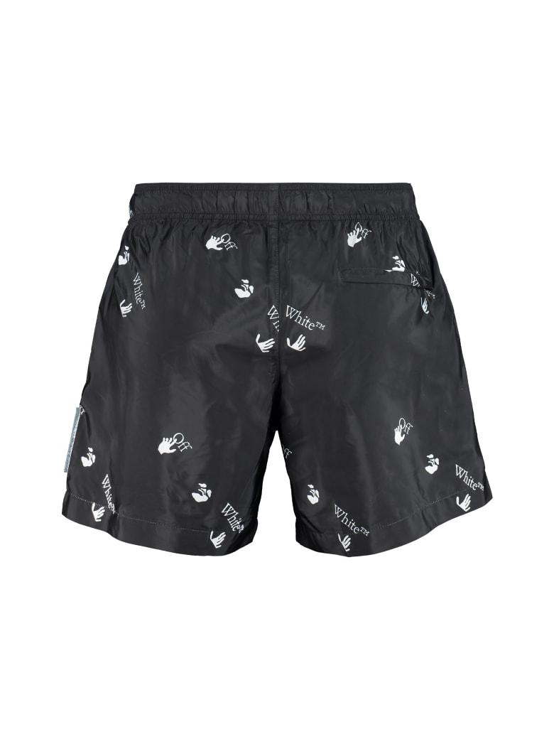 Off-White Nylon Swim Shorts - black
