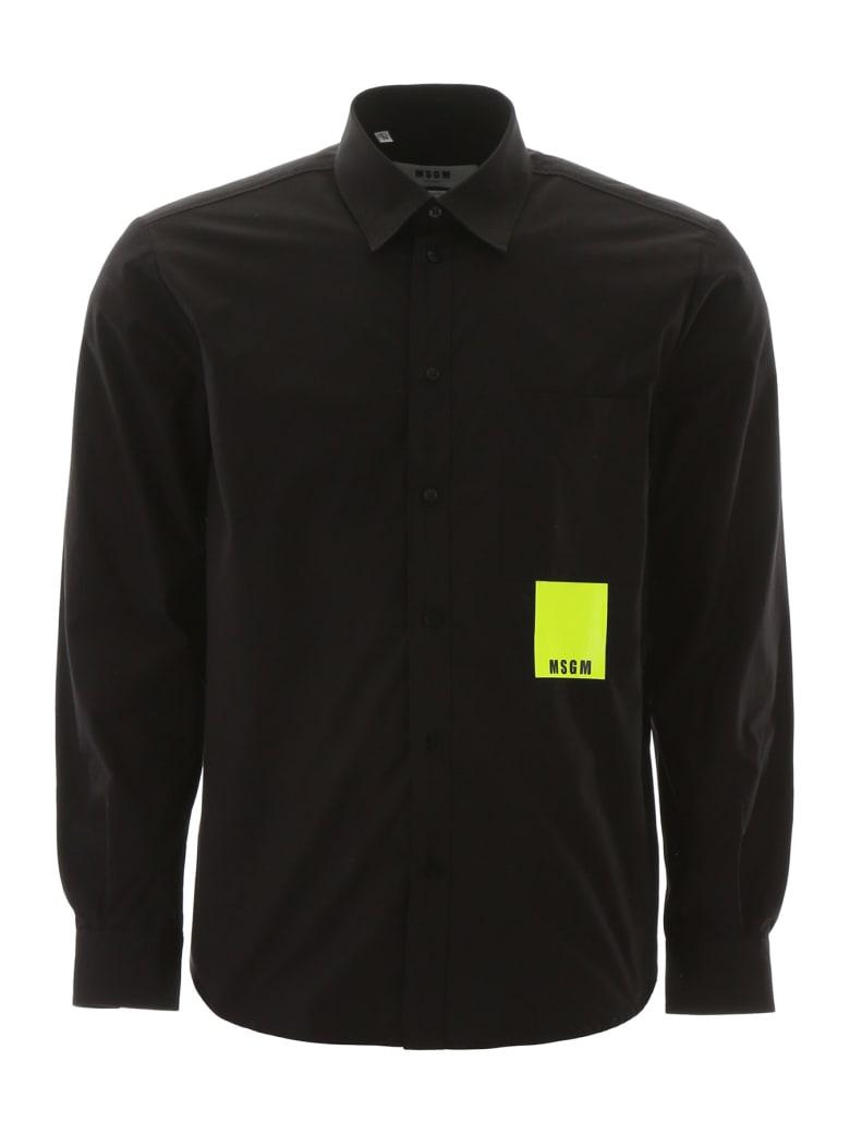 MSGM Neon Label Shirt - NERO (Black)