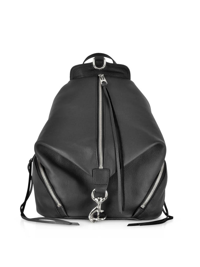 Rebecca Minkoff Black Leather Julian Backpack - Black