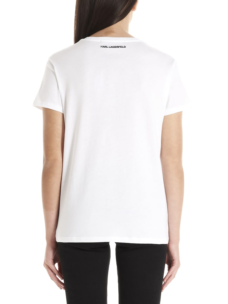 Karl Lagerfeld 'choupette' T-shirt - White