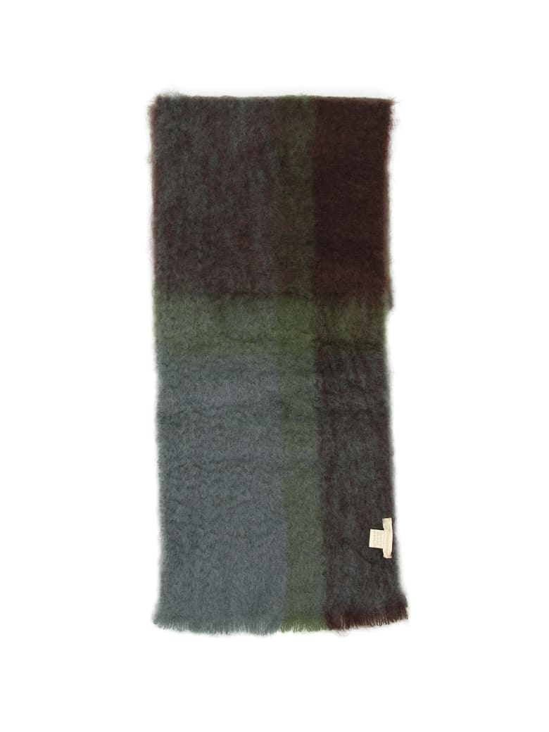 Lovat & Green Faded Check Scarf - GREEN (Green)