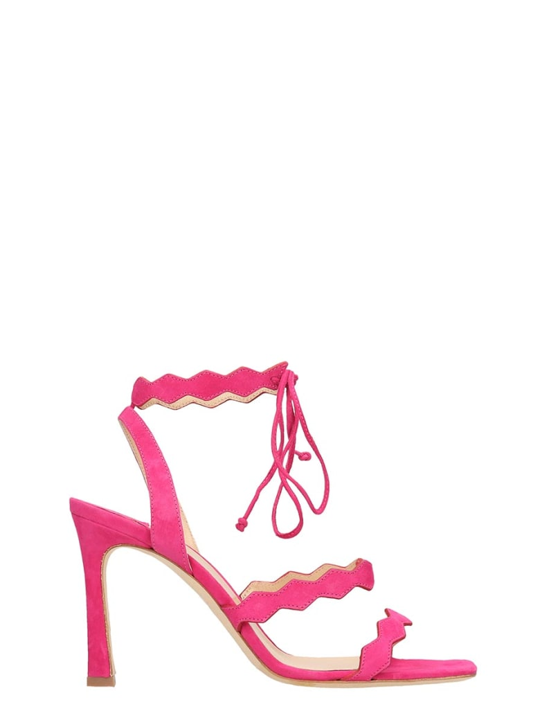The Seller Fuchsia Suede Sandals - fuxia