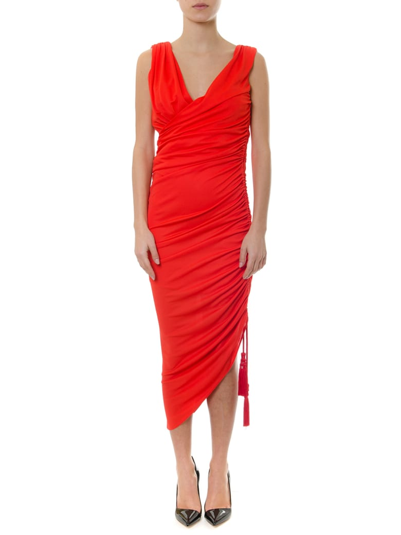 Lanvin Poppy Coloured Jersey Dress - Red