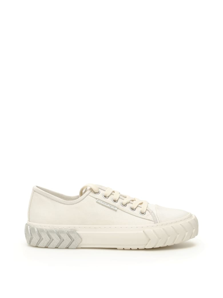 Both Low Tyres Sneakers - WHITE GLITTER SILVER (White)