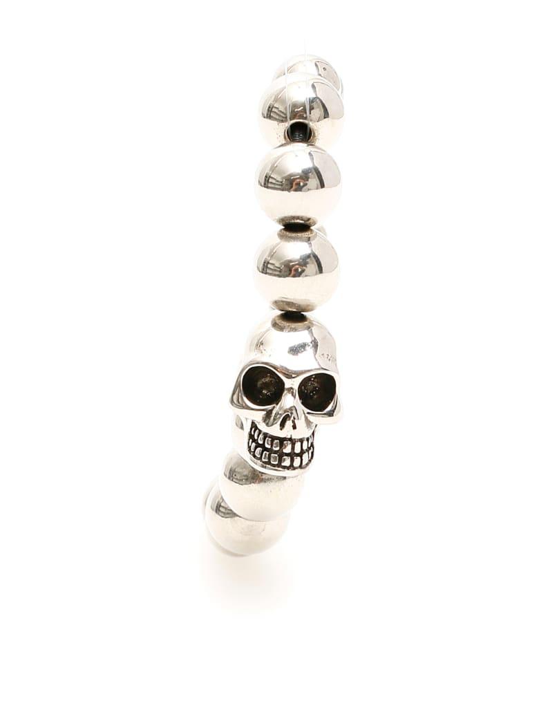 Alexander McQueen Skull Pearl Bracelet - SIL V B ANTIL (Silver)