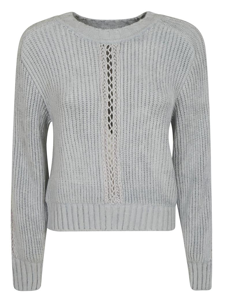 Alberta Ferretti Perforated Knit Sweater - Polvere
