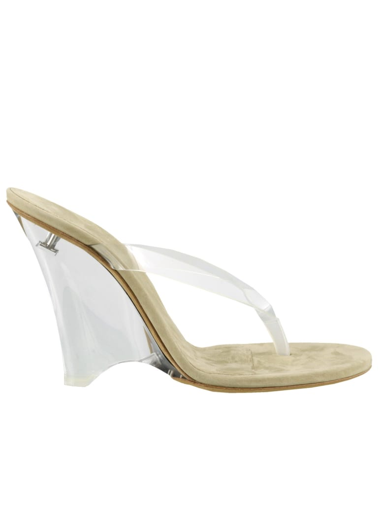 Yeezy Wedge Thong Sandals In Soft Pvc - Clear