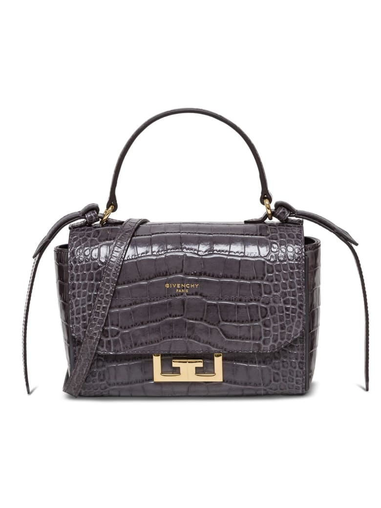 Givenchy Embossed Crocodile Effect Tote Bag - Grey