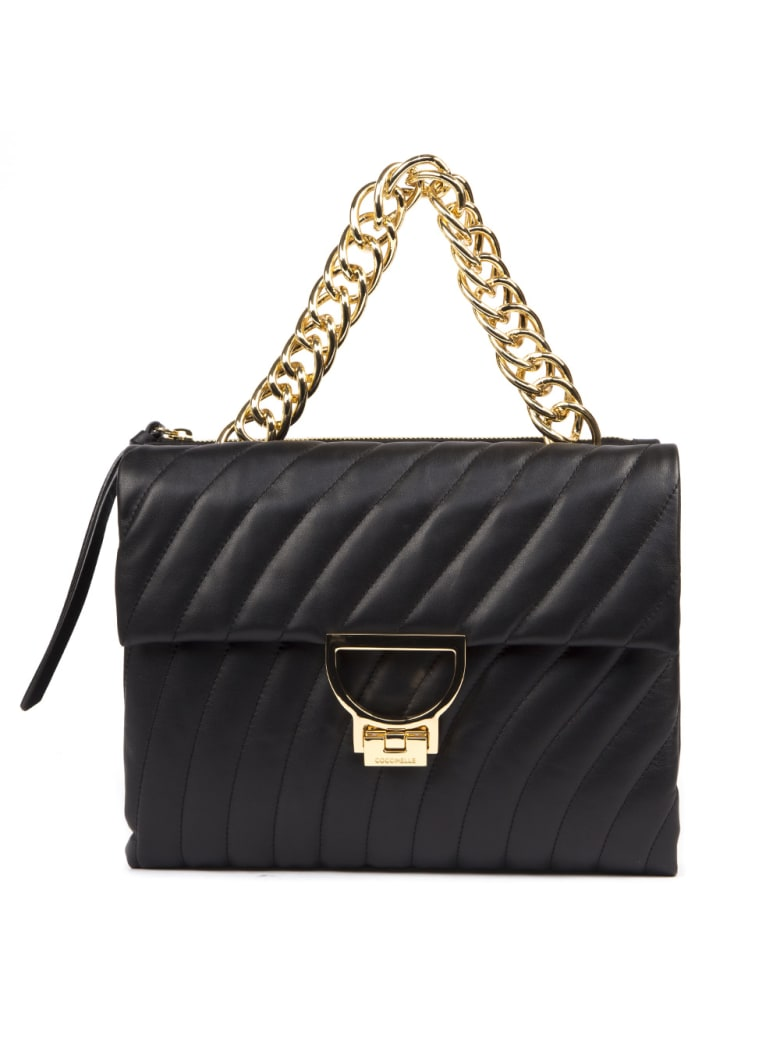 Coccinelle Black Arlettis Quilted & Smooth Leather Bag - Noir