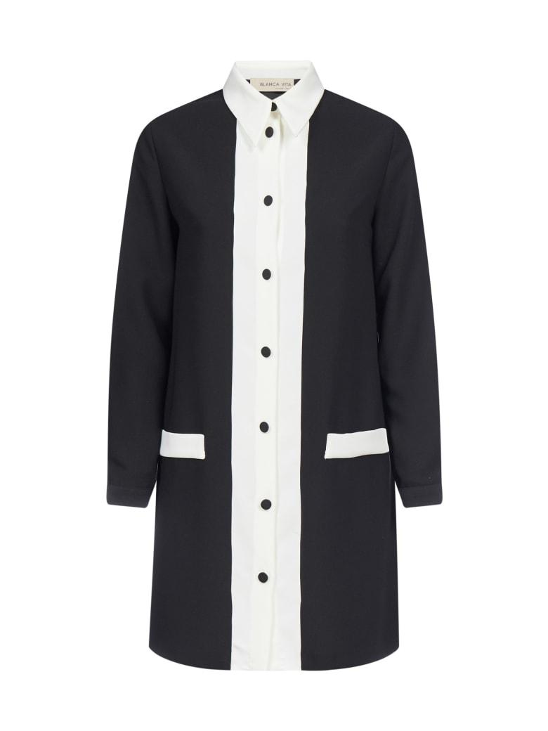 Blanca Vita Cinzia Shirt Dress - Nero/bianco